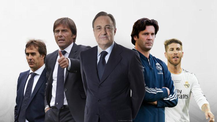 فلورنتينو بيريز، سانتياجو سولاري، سيرجيو راموس، أنطونيو كونتي، جولين لوبيتيجي، ريال مدريد