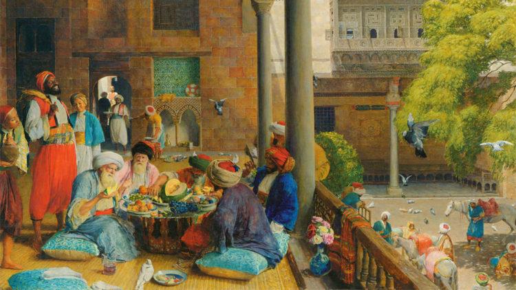تاريخ، مصر العثمانية، وجبة مُنتصف النهار، القاهرة، ، جون فريدريك لويس