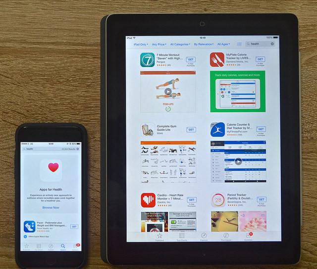 هواتف ذكية, تطبيقات, صحة