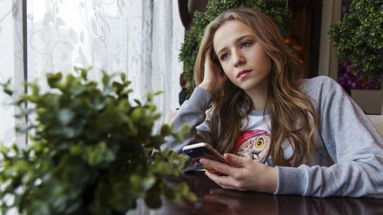 فتاة، مراهقة، هاتف