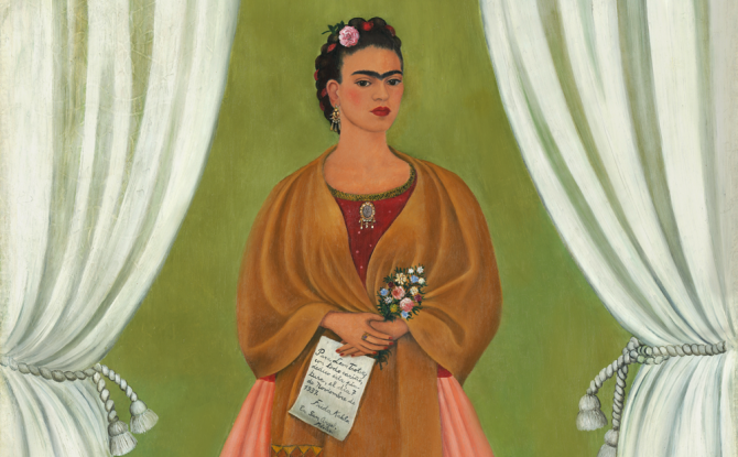 لوحة Self portrait dedicated to leon trotsky, فريدا كاهلو