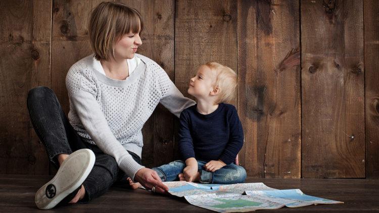 تربية, نشء, تعاون, أطفال