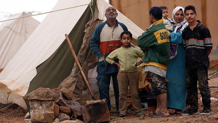 فلسطين, غزة, لاجئين, الحدود الأردنية