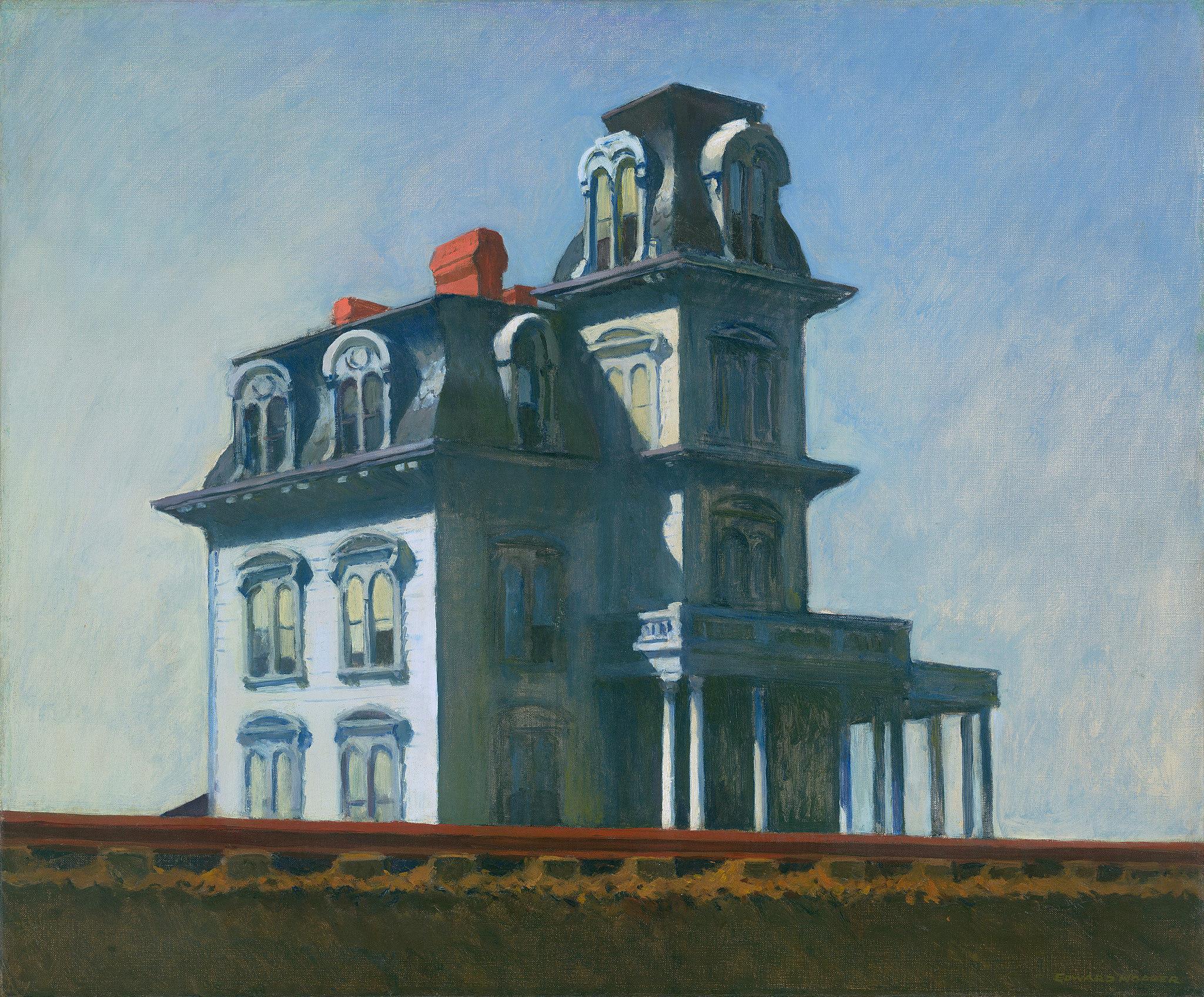 منزل بجانب السكك الحديدية، إدوارد هوبر