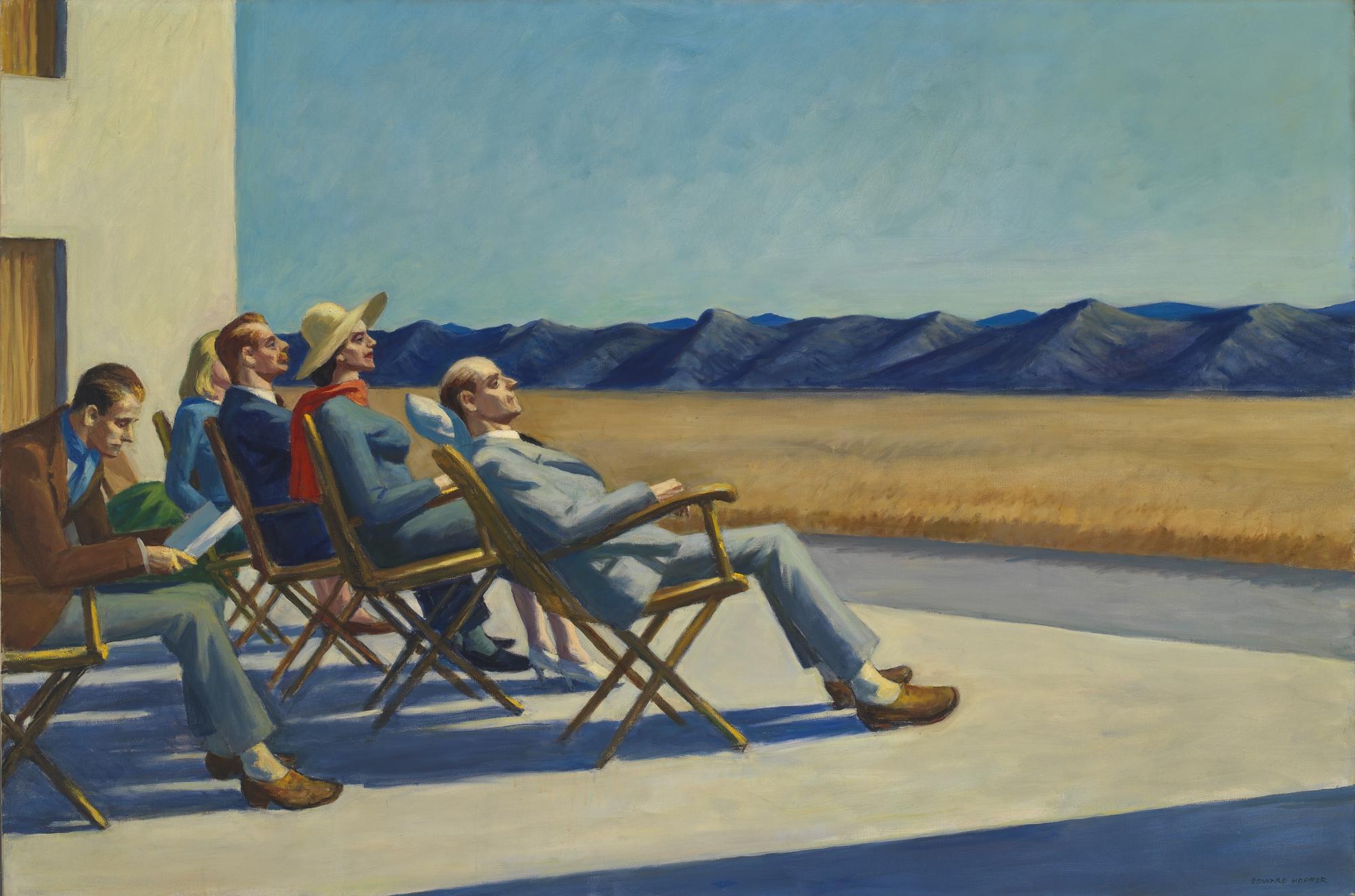 ناس في الشمس، إدوارد هوبر