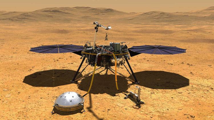 إنسايت, المسبار إنسايت, فضاء, رحلات الفضاء, كوكب المريخ, ناسا