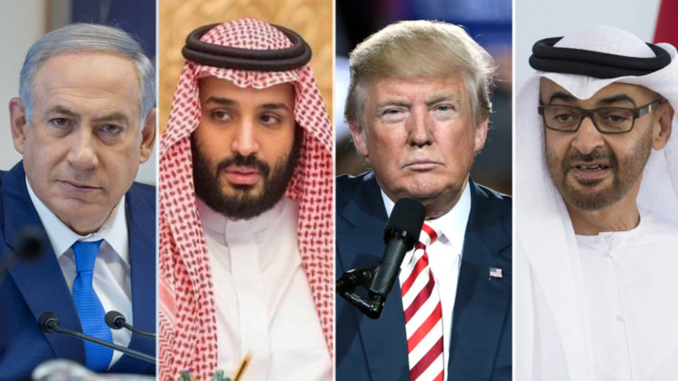محمد بن زايد, دونالد ترامب, محمد بن سلمان, بنيامين نتنياهو, الخليج العربي, التحالف, الولايات المتحدة الأمريكية