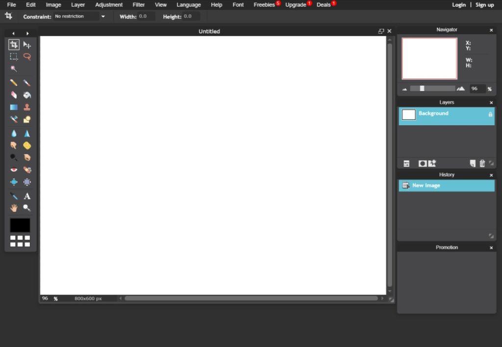 فوتوشوب، تعديل صور، Pixlr Editor