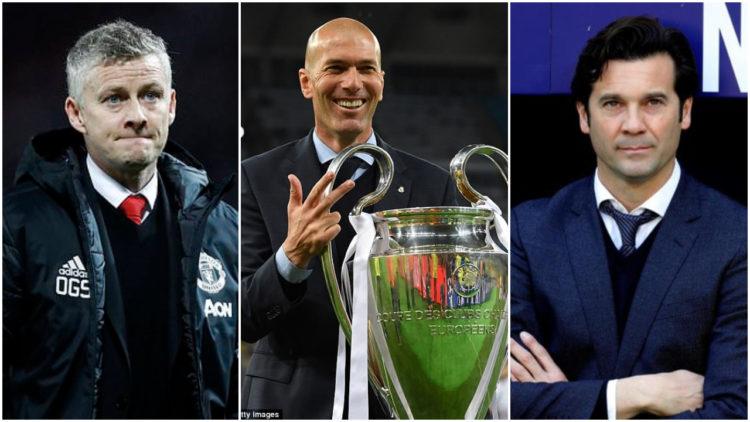 ريال مدريد, مانشستر يونايتد, سانتياجو سولاري, أولي جونار سولشاير, زين الدين زيدان
