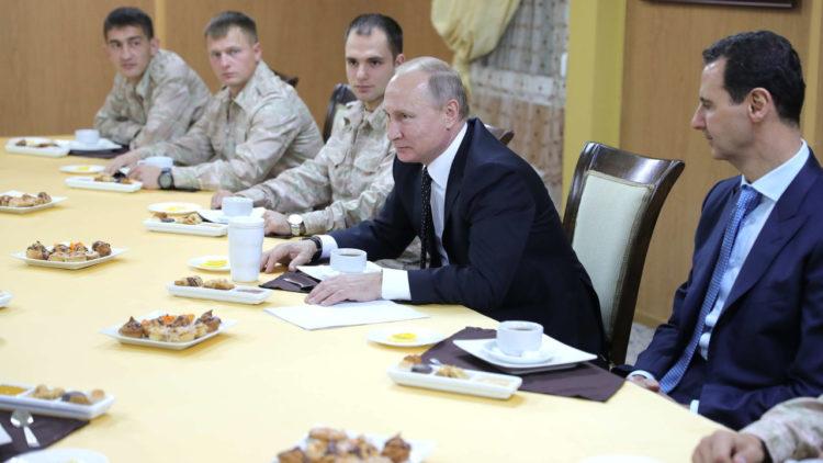 فلاديمير بوتين, بشار الأسد, الثورة السورية, الحرب في سوريا, روسيا