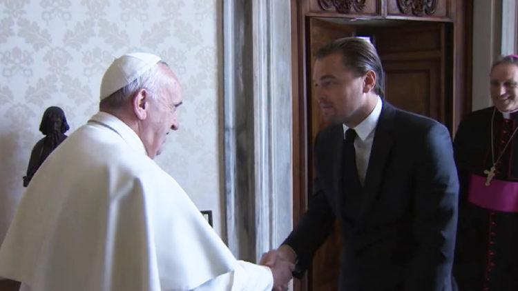 جوائز الأوسكار, ليوناردو دي كابريو، البابا فرانسيس، بابا الفاتيكان