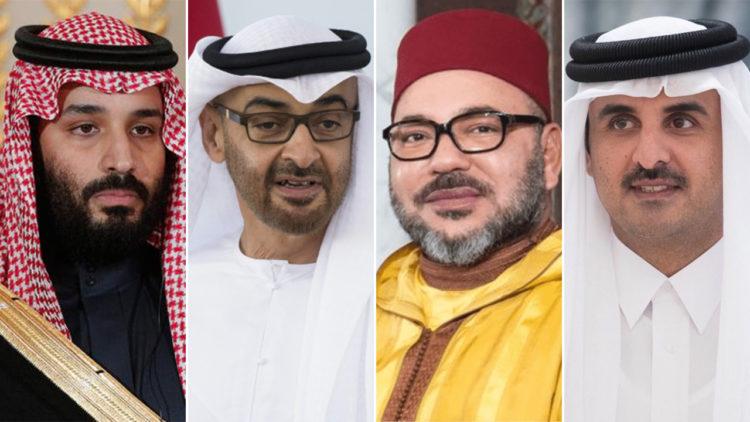 تميم بن حمد آل ثاني، محمد السادس، محمد بن زايد، محمد بن سلمان، المغرب، قطر، الإمارات، المملكة العربية السعودية