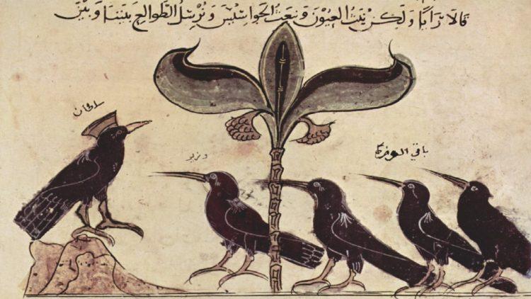 ملك الغربان يحاور وزراءه في «كليلة ودمنة»