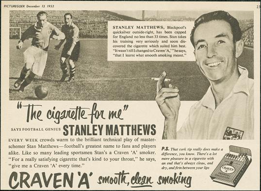 كرة قدم, التدخين, إنجلترا, ستانلي ماثيوس