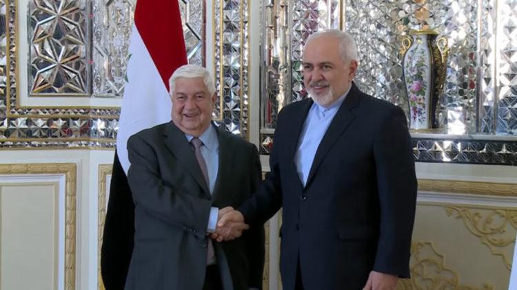 إيران, سوريا, وليد المعلم, محمد جواد ظريف