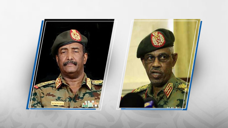 عوض بن عوف, عبد الفتاح البرهان, السودان, احتجاجات السودان