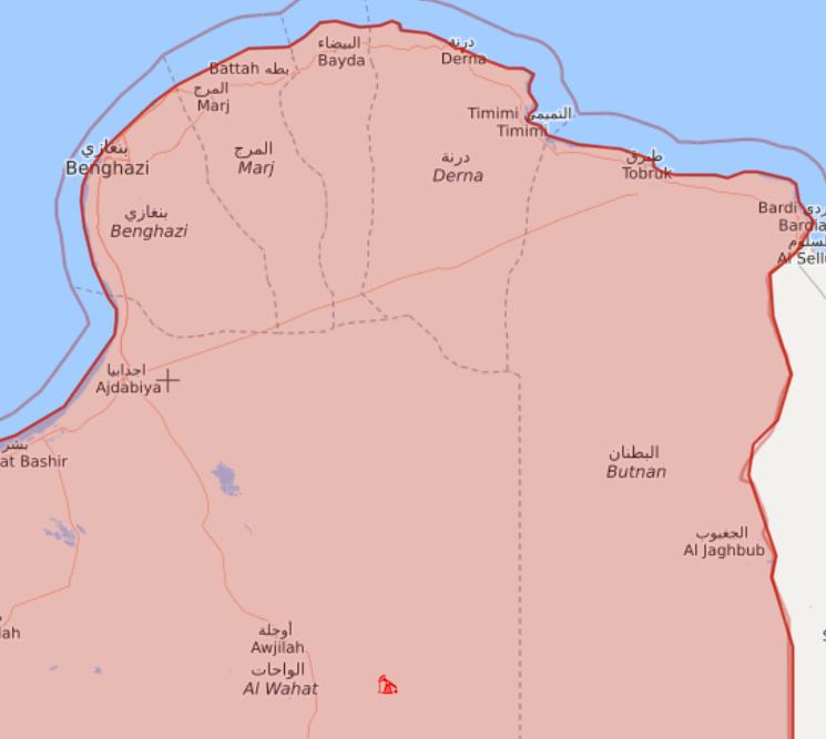 ليبيا، خريطة الشرق الليبي