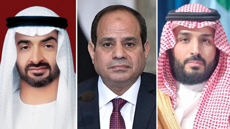 محمد بن سلمان, عبد الفتاح السيسي, محمد بن زايد, مصر, السعودية, أبو ظبي, الإمارات