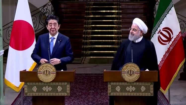 حسن روحاني, شينزو آبي, اليابان, إيران, الولايات المتحدة الأمريكية