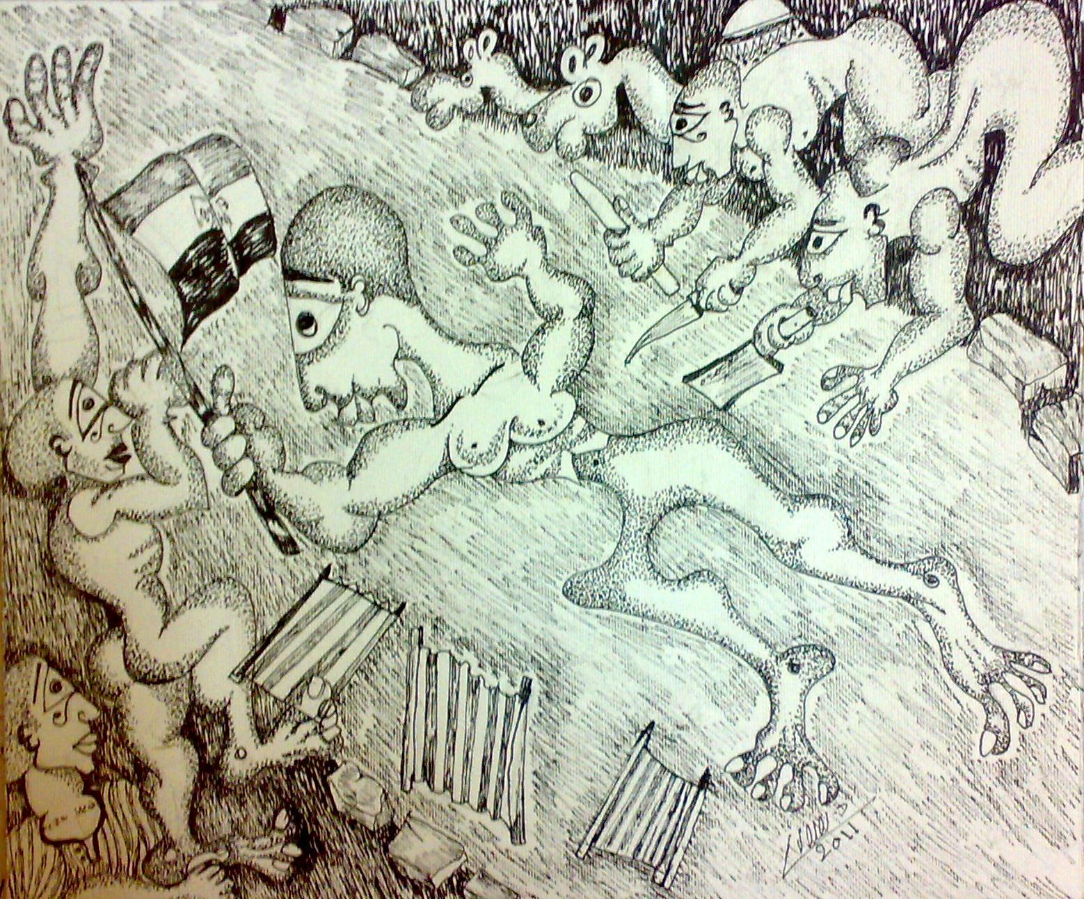 ثورة 25 يناير، فن تشكيلي