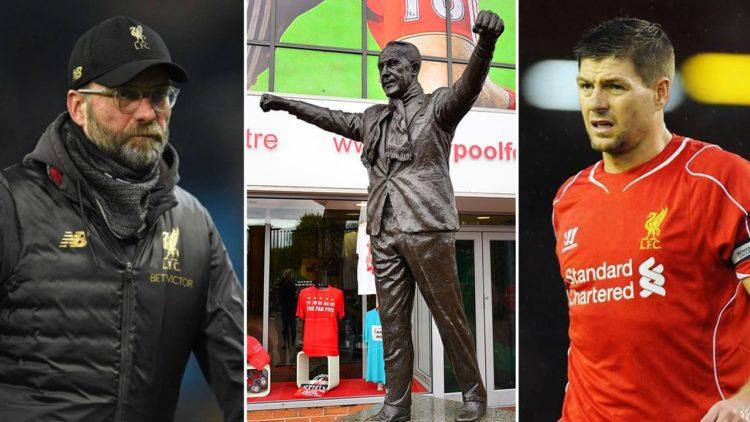 يورجن كلوب, ستيفن جيرارد, بيل شانكيلي, ليفربول, كرة القدم العالمية, دوري أبطال أوروبا