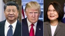 شي جين بينج، تساي إنغ ون، الصين، تايوان، دونالد ترامب، الولايات المتحدة الأمريكية
