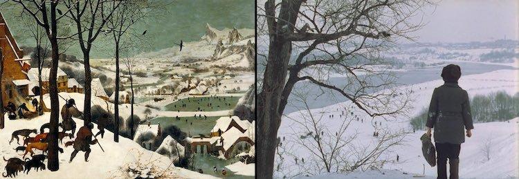 أندري تاركوفسكي, المرآة, الصيادون والثلج, بيتر برويجل الأب, فن تشكيلي