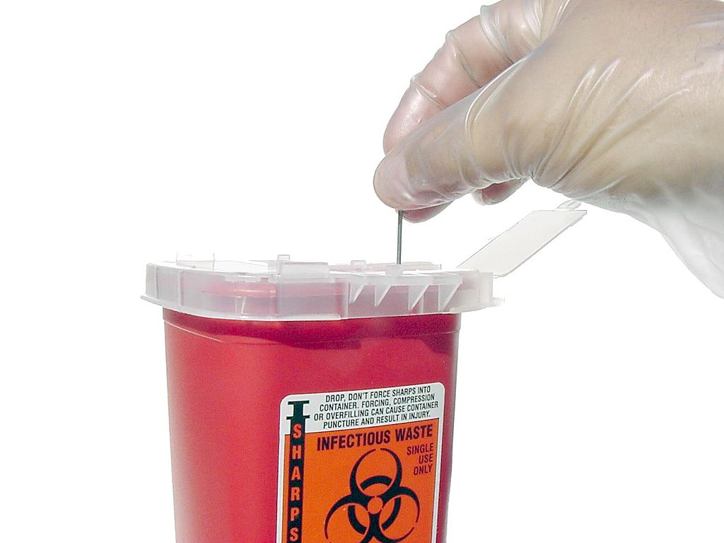 صندوق مهملات طبية، طب، مخلفات خطرة،