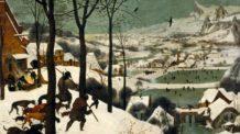 الصيادون في الثلج, بيتر برويجل الأب, فن تشكيلي, لوحات فنية