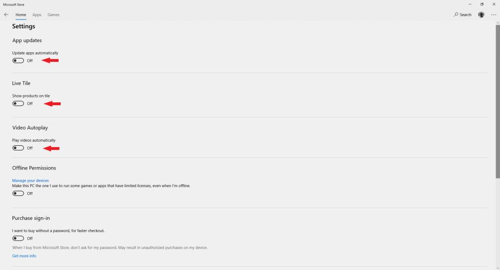 إيقاف التحديث التلقائي للتطبيقات من متجر مايكروسوفت ستور على ويندوز
