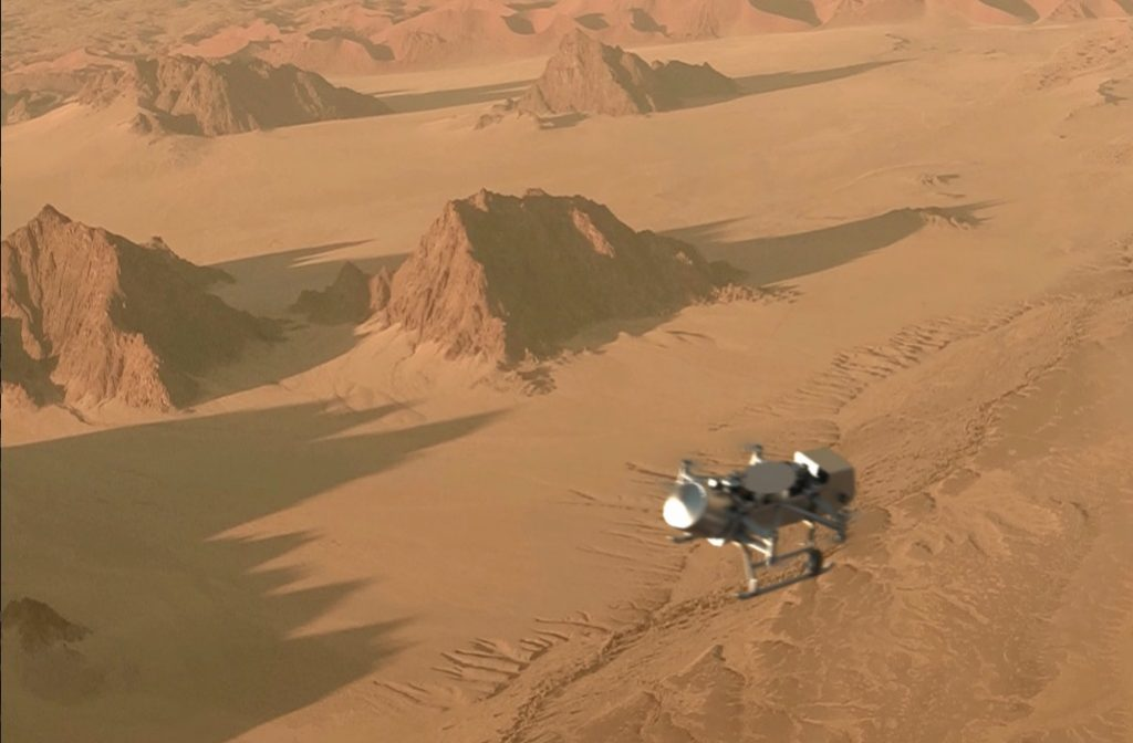 مهمة «Dragonfly»: رحلة مستقبلية تهبط على تيتان قمر زحل Df-flight-1024x672