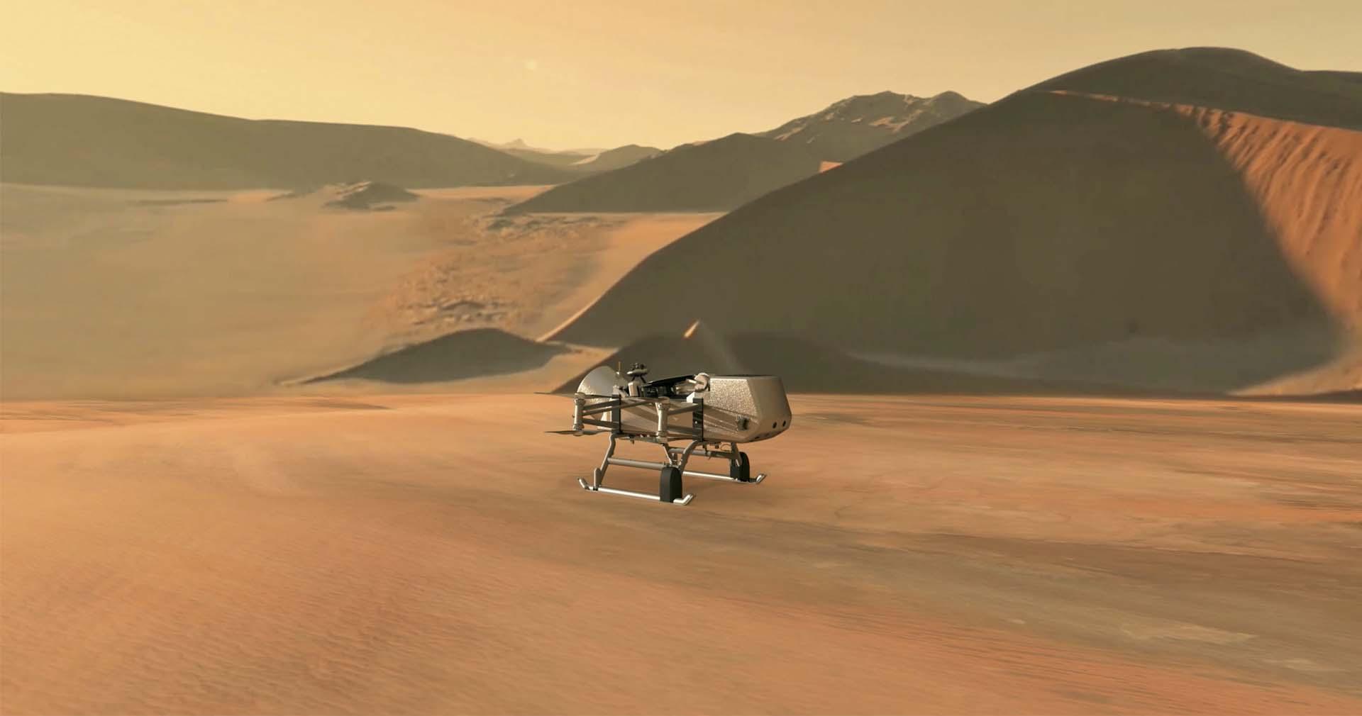 مهمة «Dragonfly»: رحلة مستقبلية تهبط على تيتان قمر زحل Dragon-fly-titan