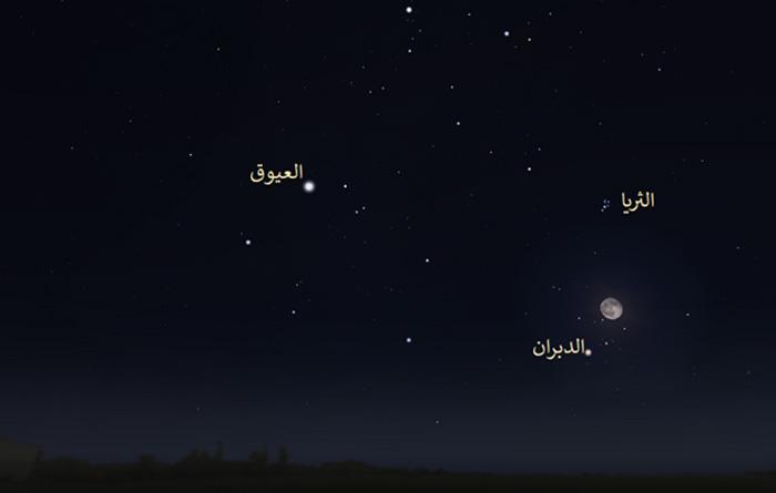 الدبران سماء الليل كواكب فلك رصد فلكي