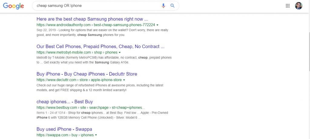 بحث موضوعين مختلفين بحث جوجل