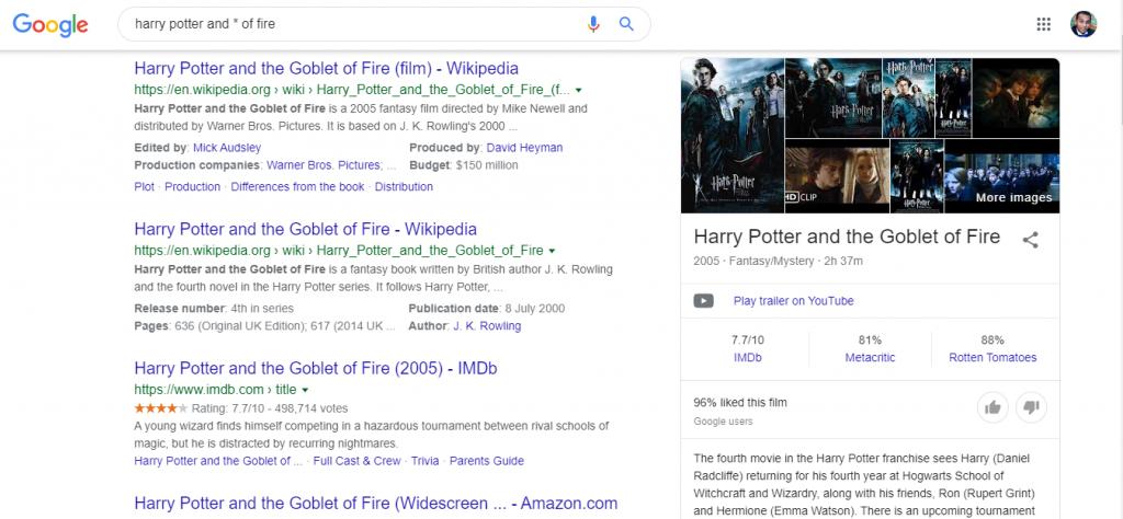 بحث عن الكلمة المفقودة بحث جوجل