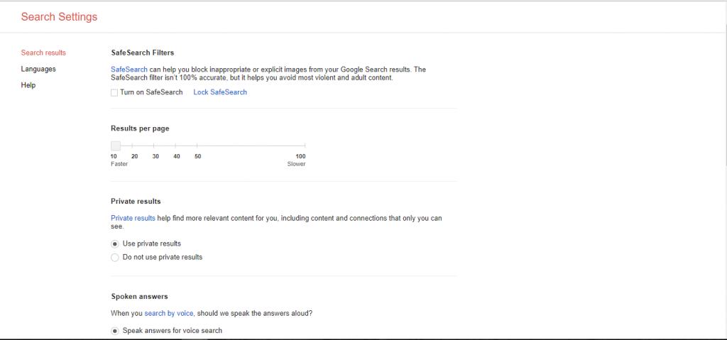 تخصيص بحث جوجل
