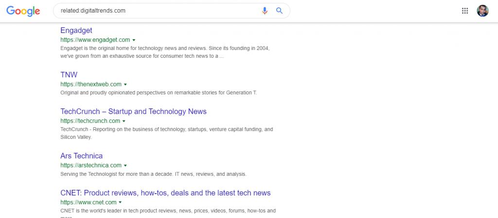 بحث عن موقع شبيه بحث جوجل
