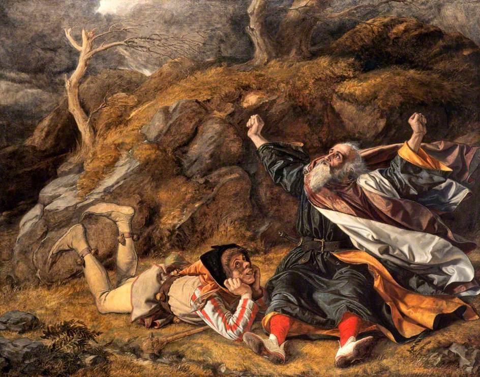 الملك لير والأحمق، لوحة لويليام دايس
