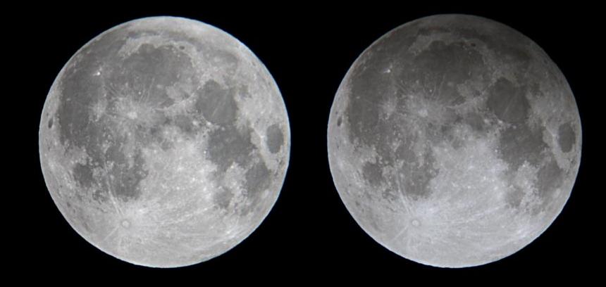 القمر خسوف جزئي