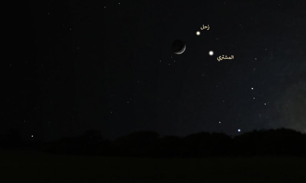 القمر زحل المشتري