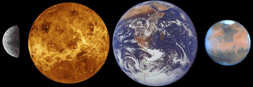 المجموعة الشمسية الزهرة الأرض