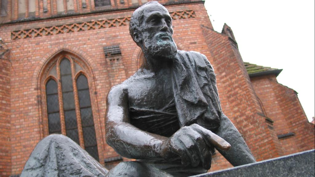 تمثال أرشميدس في المدينة الألمانية غوتزرو
