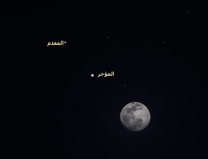 القمر سماء الليل المؤخر المقدم