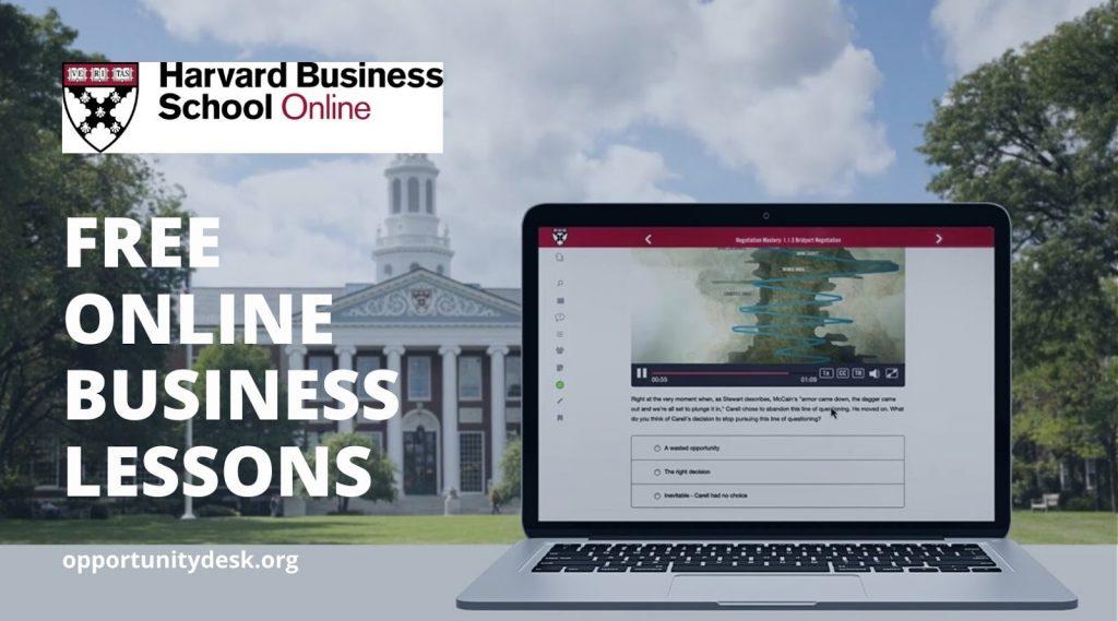 كورسات ريادة الأعمال المجانية من جامعة هارفارد