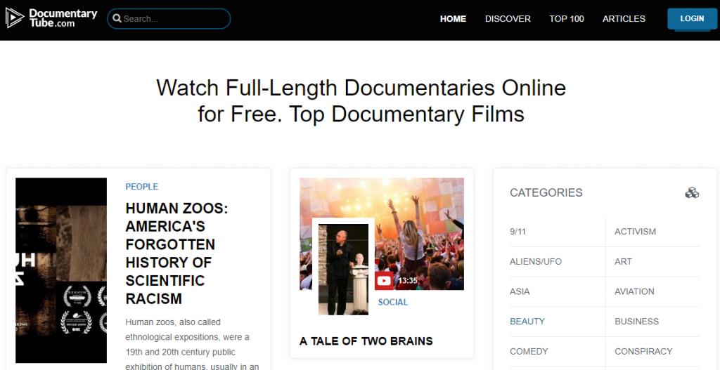 مواقع أفلام وثائقية مجانًا