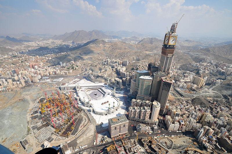 البناء المحيط بالمسجد الحرام بمكة المكرمة