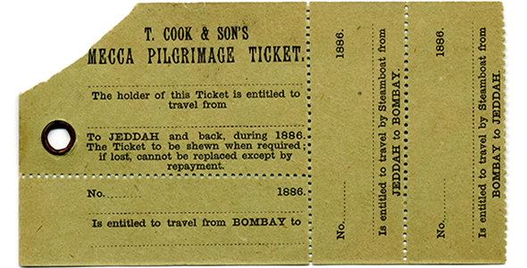 تذكرة حج بريطانية من القرن التاسع عشر تسمح بالسفر من بومباي إلى جدة