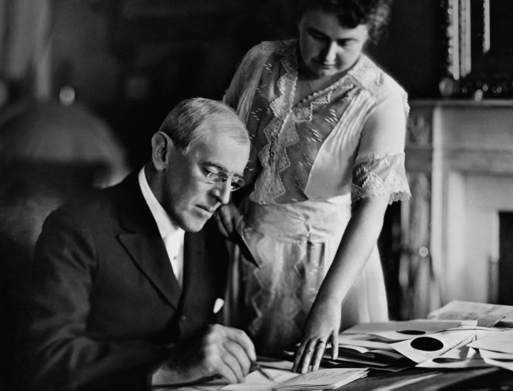 وودورو ويلسون وزوجته إيديث