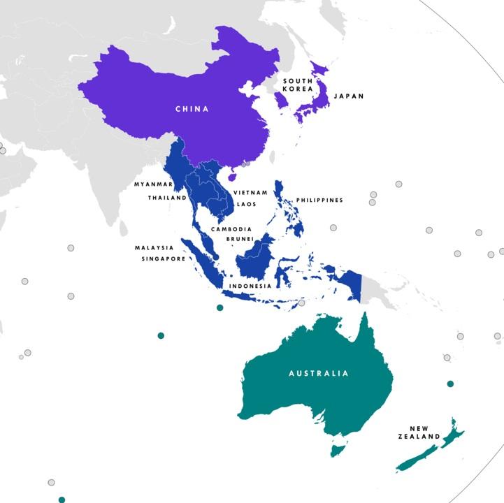 أعضاء الشراكة الإقليمية الاقتصادية الشاملة
