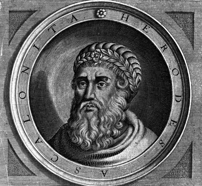 هيرودس الكبير حاكم فلسطين وقت ولادة المسيح